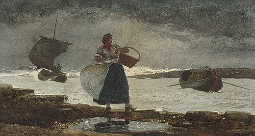 Winslow Homer's Tumultuous Seas and Passive Women (4/4)
