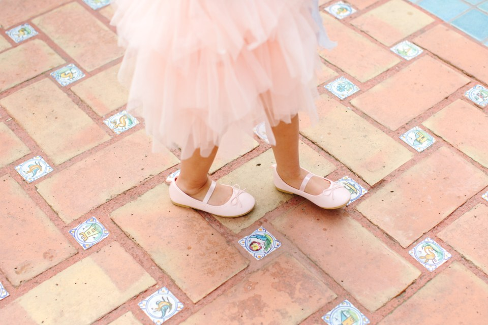 Flower girl ballet slippers - www.marycostaweddings.com