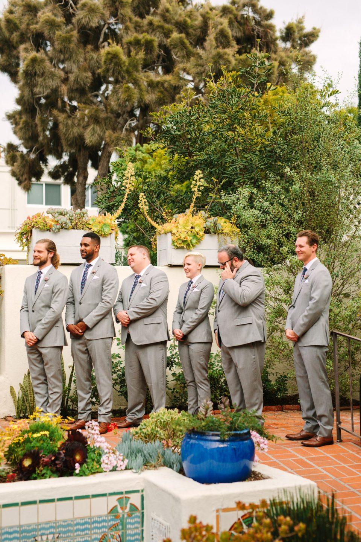 Emotional groomsman at wedding - www.marycostaweddings.com