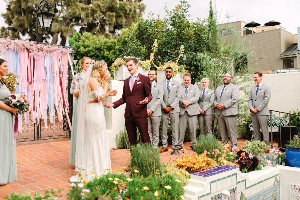 Emotional wedding ceremony in La Jolla - www.marycostaweddings.com
