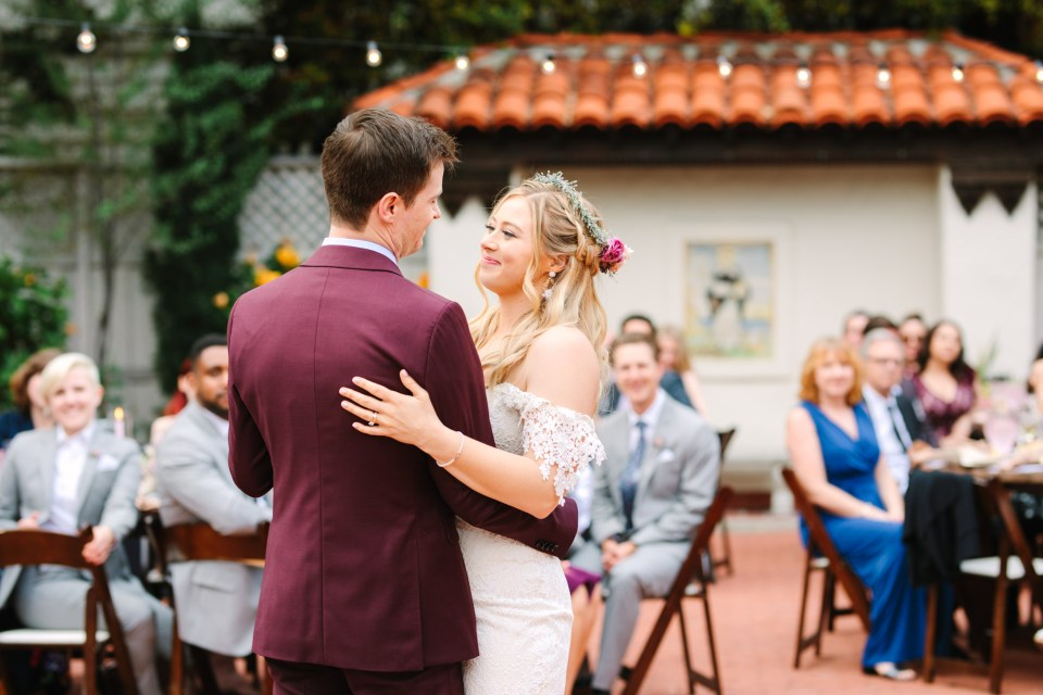 Bride and groom dancing - www.marycostaweddings.com