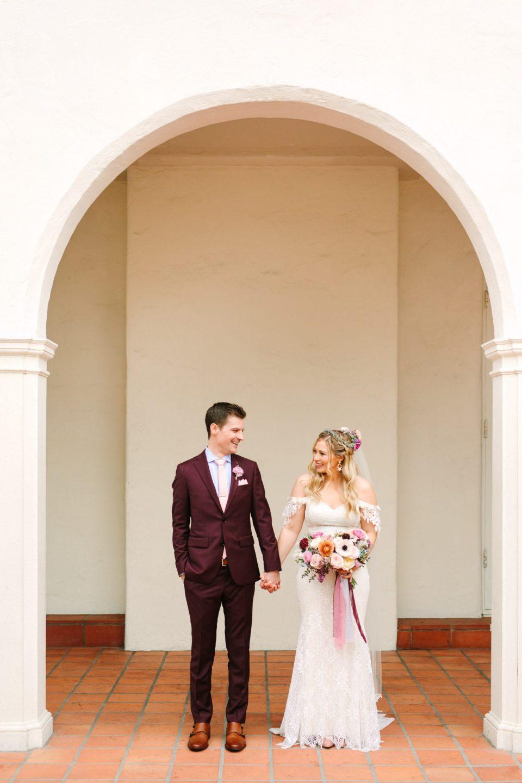 Bride and groom at Darlington House La Jolla - www.marycostaweddings.com