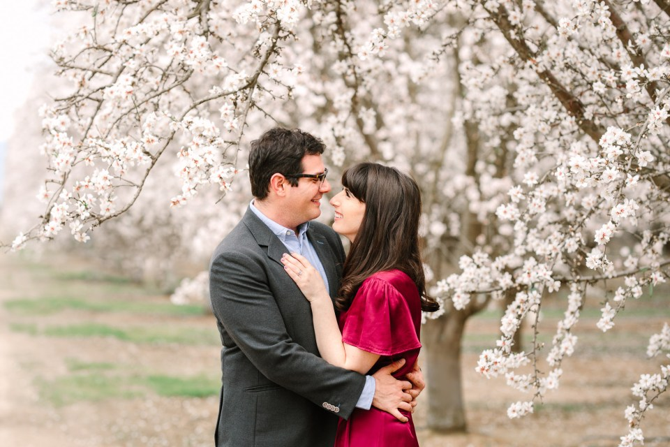 Almond orchard engagement session by Mary Costa Photography