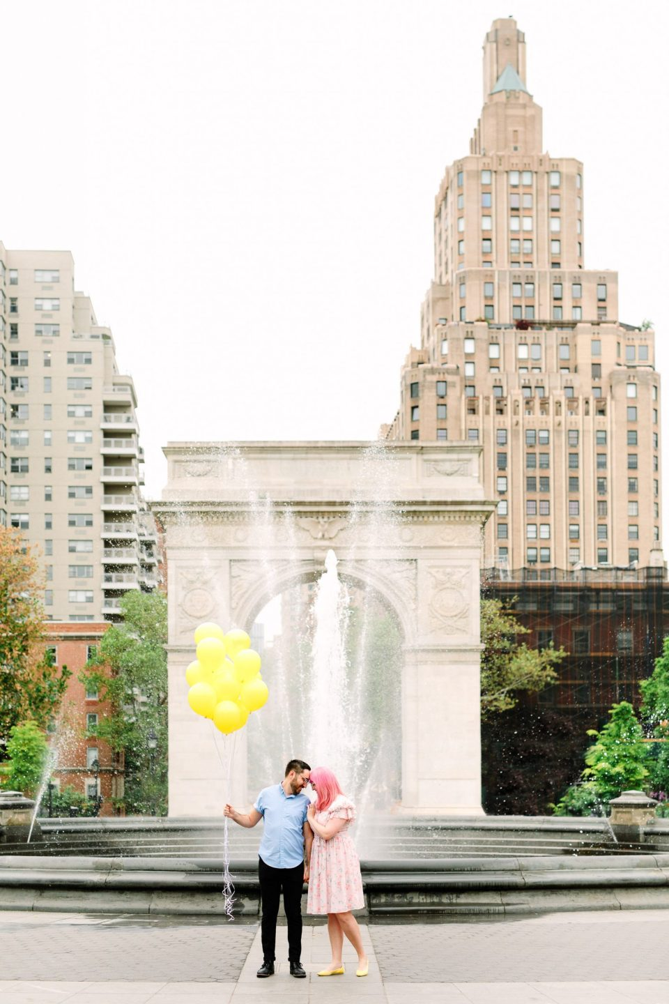 Engagement session at Washington Square Park by Mary Costa Photography