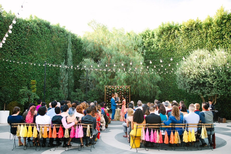 Colorful Fig House wedding at Fig House Los Angeles by Mary Costa Photography