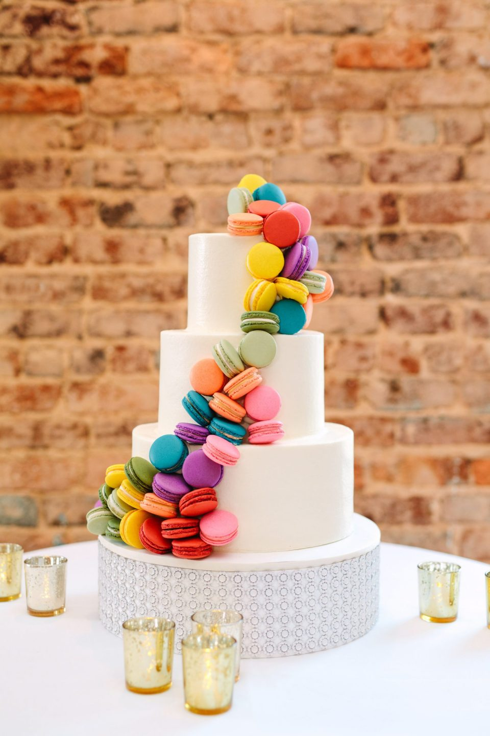Colorful Macaron cake by Mary Costa Photography