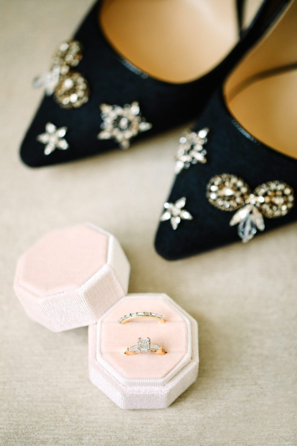 Wedding rings and Jimmy Choo heels