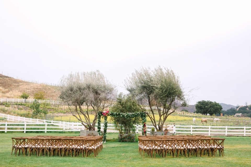 Saddlerock Ranch wedding by Mary Costa Photography