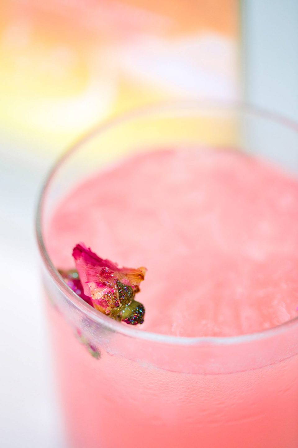 Glitter cocktail by Mary Costa Photography