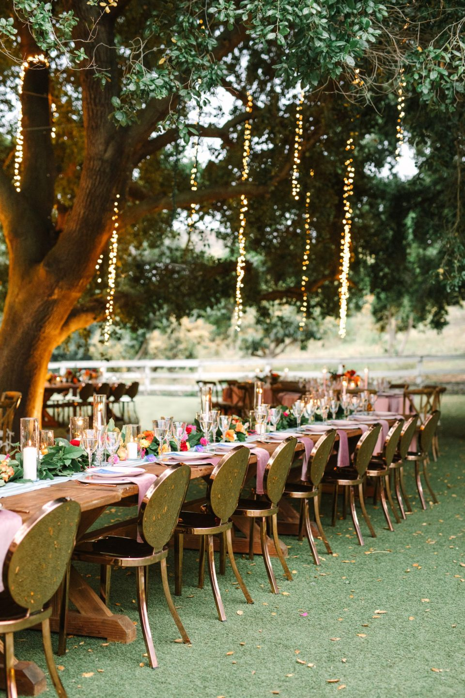 Rose gold wedding reception chairs by Mary Costa Photography