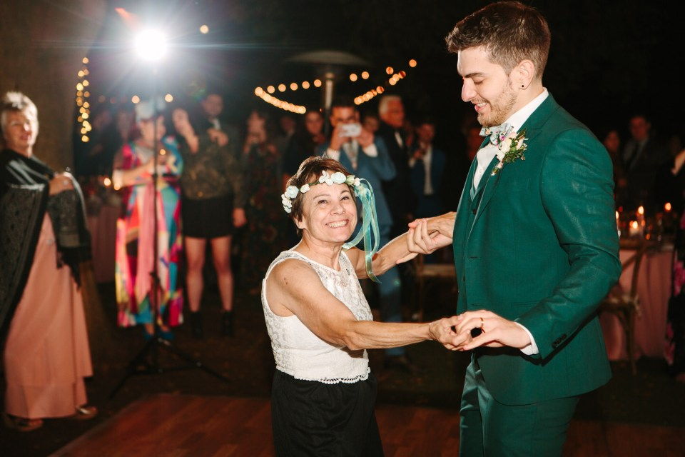 Mother-son dance at wedding by Mary Costa Photography