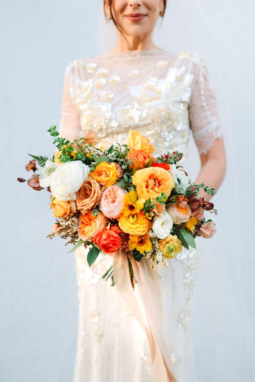 Colorful bride bouquet by Shindig Chic www.marycostaweddings.com