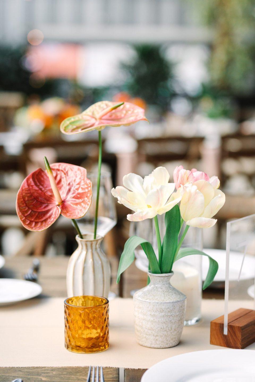 Floral details at wedding reception www.marycostaweddings.com