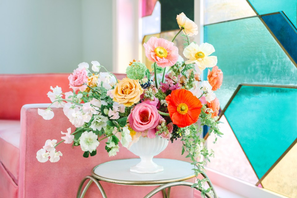Beautiful bouquet at Fig House Los Angeles - www.marycostaweddings.com