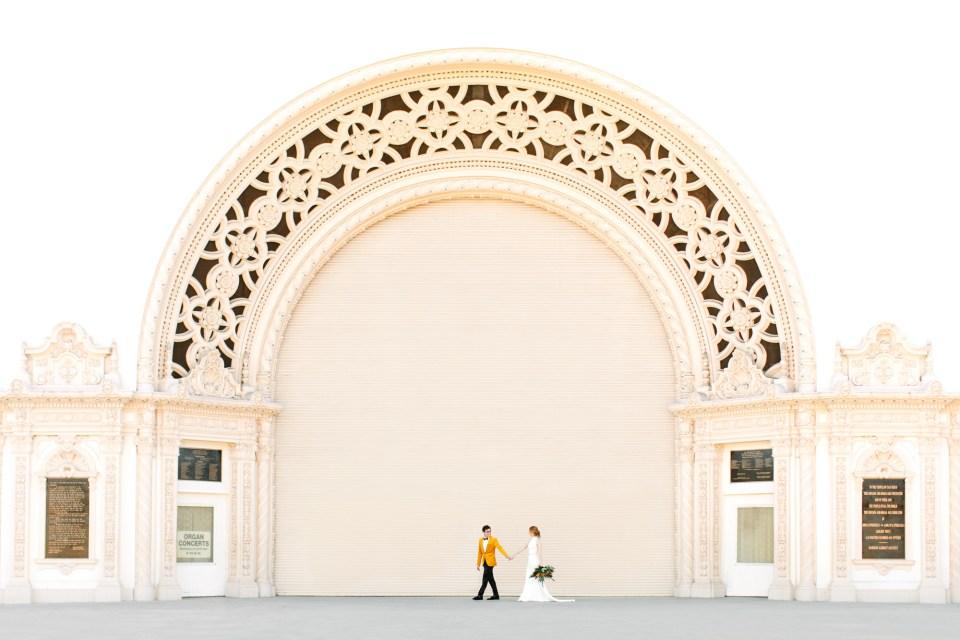 Spreckels organ pavilion in Balboa Park - www.marycostaweddings.com