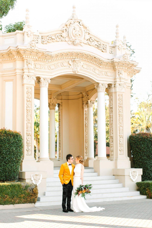 Couple in San Diego's Balboa Park - www.marycostaweddings.com