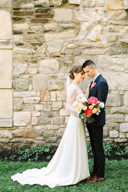 Bride and groom in NYC - www.marycostaweddings.com