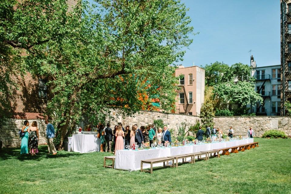 Luncheon micro wedding table - www.marycostaweddings.com