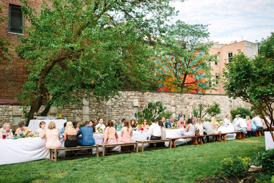 Wedding guests at luncheon wedding - www.marycostaweddings.com