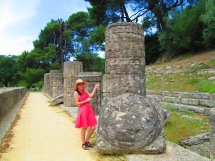 Olympia, Greece, Temple of Hera Doric Column