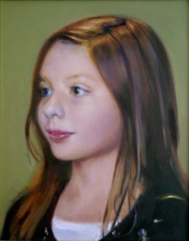 "Alexis, oil on canvas, 16"" x 12"", private collection"