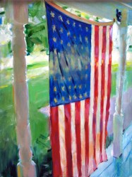 Fourth of July Farm Porch