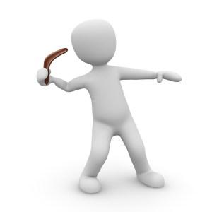 e-targeting illustreras av en lergubbe med boomerang