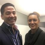 José Namen och Maryem Nasri på Vorwerk International där Maryem ska börja som frilansande projektledare