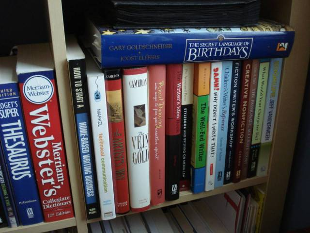 More writing books, Mary Warner's home library, November 2014.