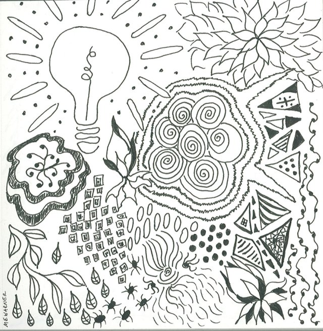 Untitled, drawn with Micron pen, by Mary Warner, 2014.