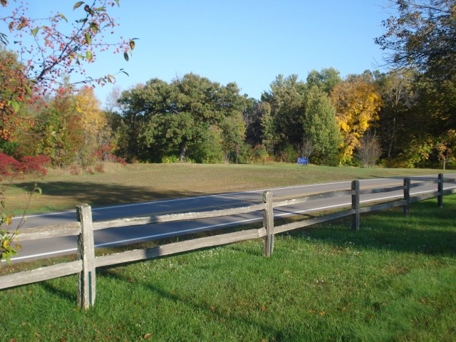 Split-rail wooden fence, photo by Mary Warner, December 2014.