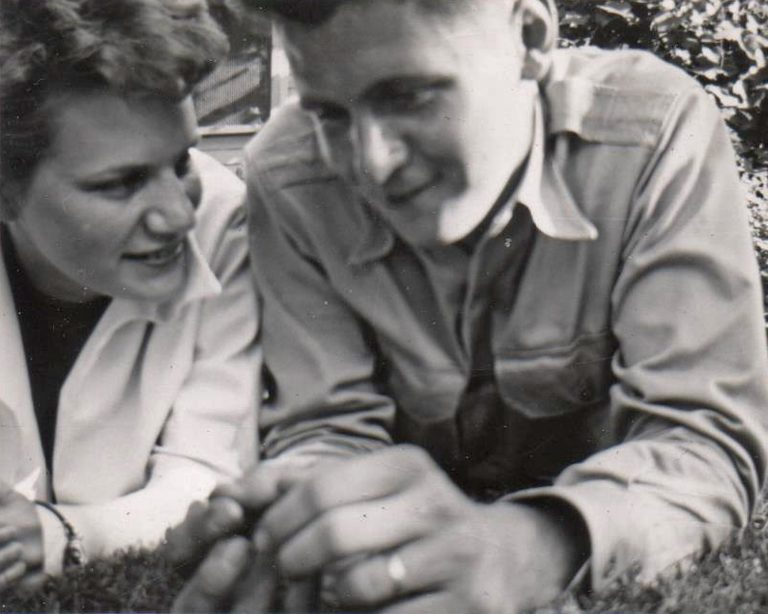 Jan and Art Warner - This is one of my favorite pictures of Jan and Art. I think it is from when they were dating. They were married in 1950, so that helps date this. Art and Jan were inseparable.