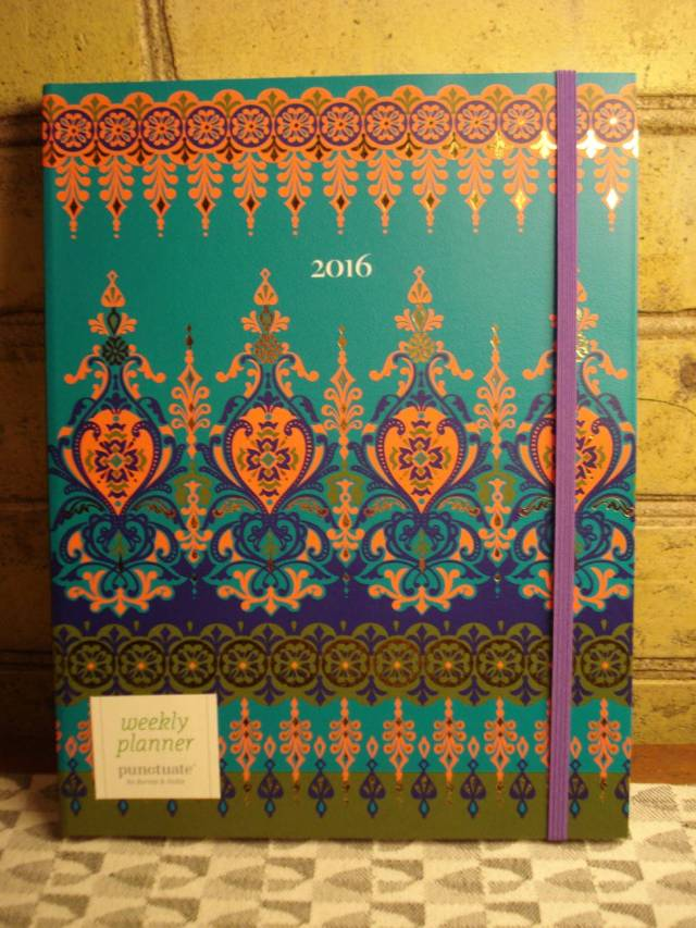 Mary's 2016 day book/calendar, cover.