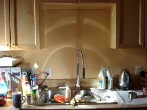 Sunlight on the kitchen sink, Mary Warner, May 3, 2016.