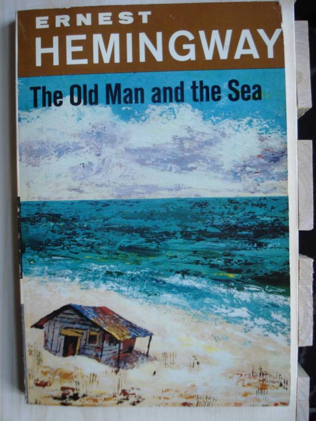 """Ernest Hemingway, """"The Old Man and the Sea,"""" 1952 edition. Photo by Mary Warner."""