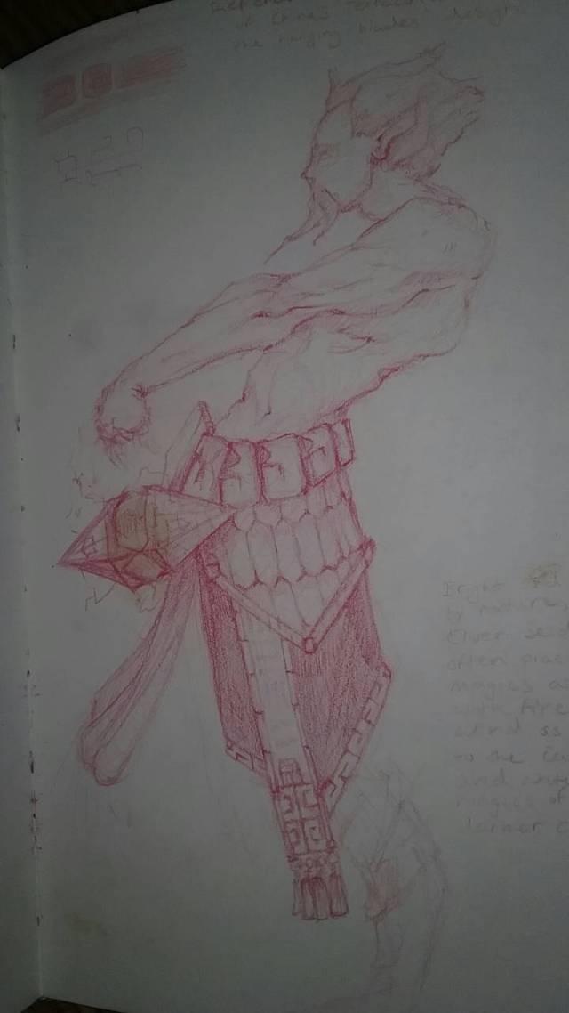 Ian Warner, armor sketch, 2016.