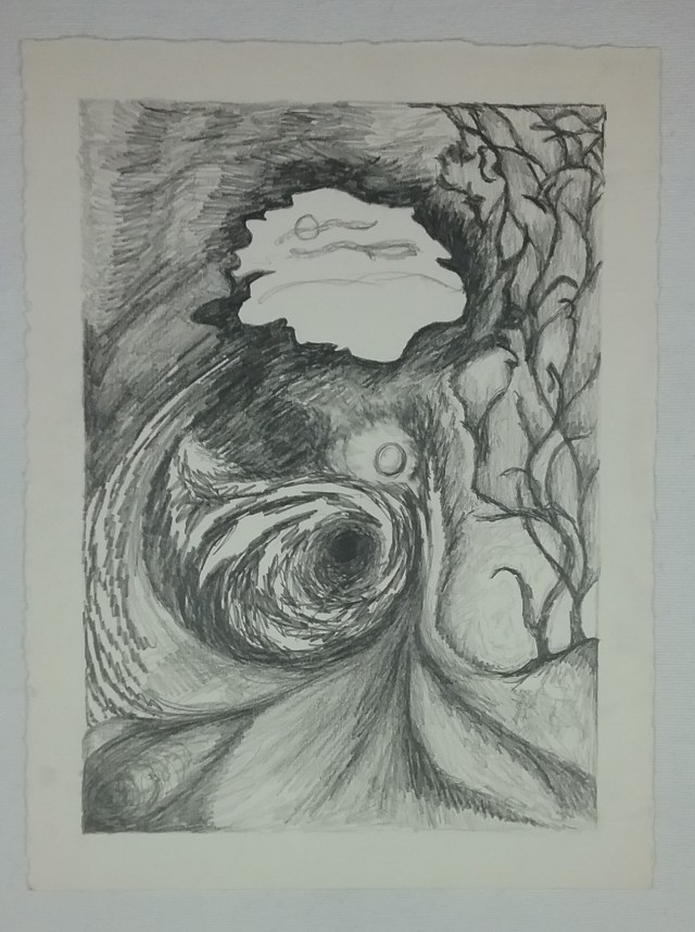 Untitled pencil drawing by Mary Warner.