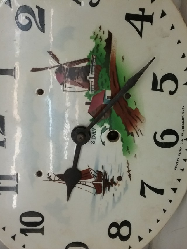 8-day clock with windmill, 2018.