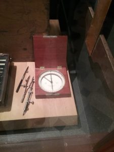 Psych! This post's featured image is NOT a clock! It's another compass from the Beltrami County Historical Society. I can, indeed, tell the difference between a clock and a compass. I just happen to find compasses to be as attractive as clocks, if not as widespread.
