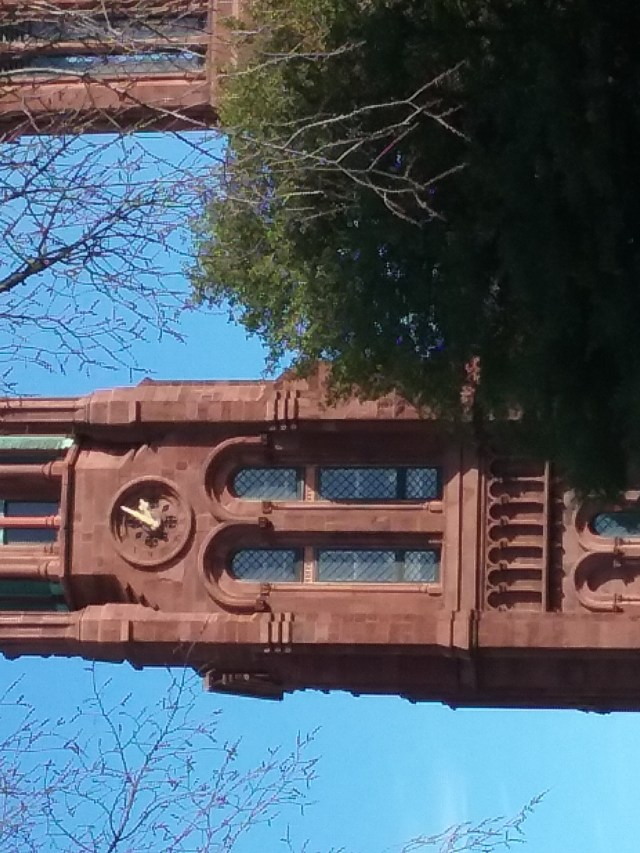 Clock on the Smithsonian Castle, 2019.