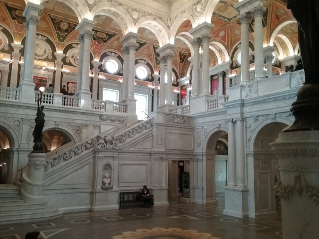 The Great Hall, Library of Congress, Thomas Jefferson Building, Washington DC, 2019.