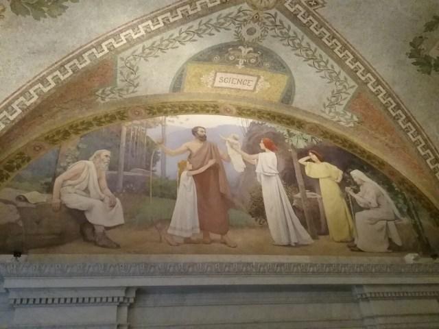 Science mural, Library of Congress, Thomas Jefferson Building, Washington DC, 2019.