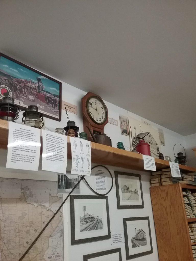 Clock at the Benton County Historical Society, Sauk Rapids, MN, 2019.