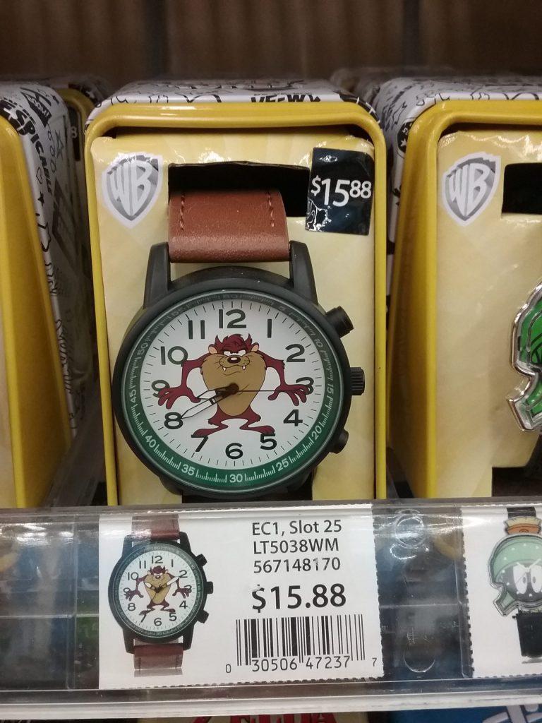 Tasmanian devil wristwatch, 2018.