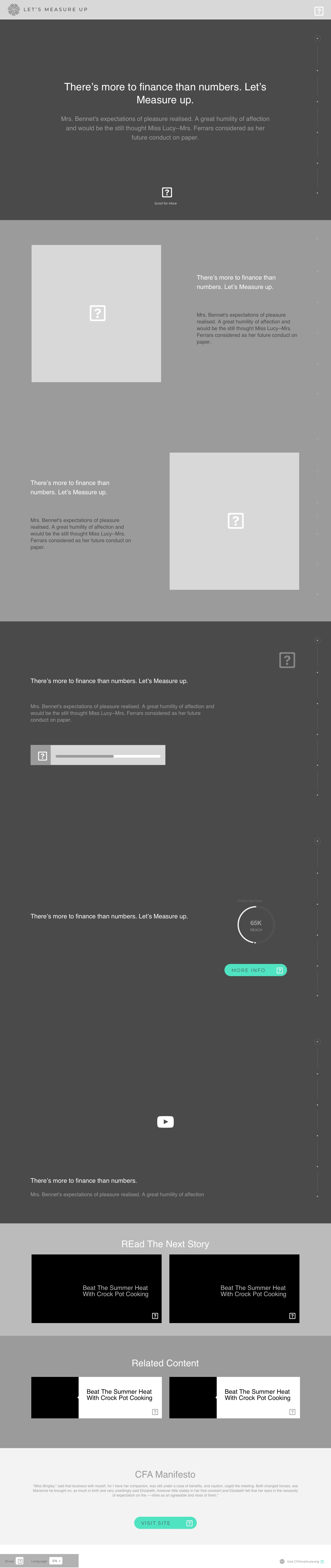 Let's Measure Up Wireframe