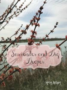 Surrender and Dig Deeper