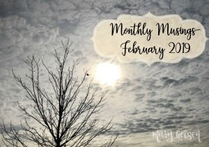 Monthly Musings ~ February 2019