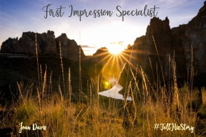 First Impression Specialist ~ Featured Writer