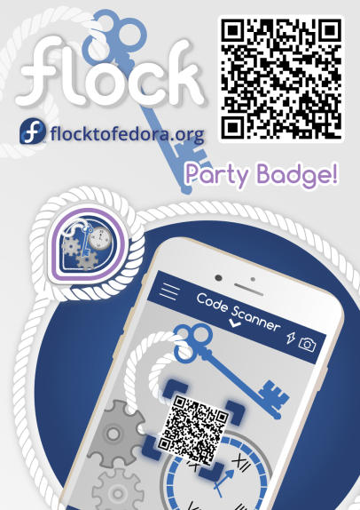 Party badge QR scan poster