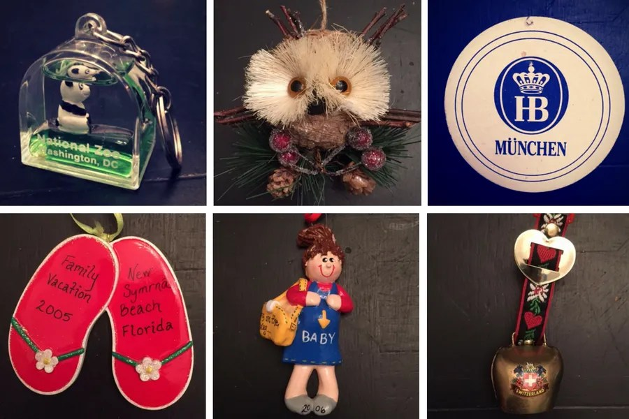 We purchase one ornament each year to represent our family's year.